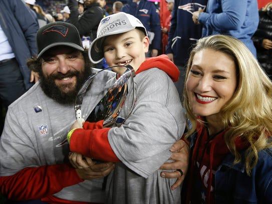 Jan 21, 2018; Foxborough, MA, USA; Patriots defensive