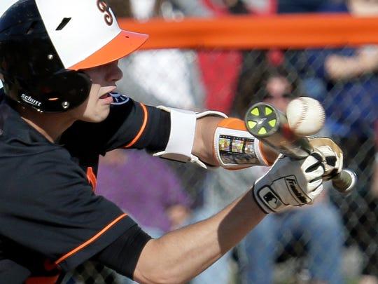 Pennsbury sophomore shortstop Justin Massielo was batting