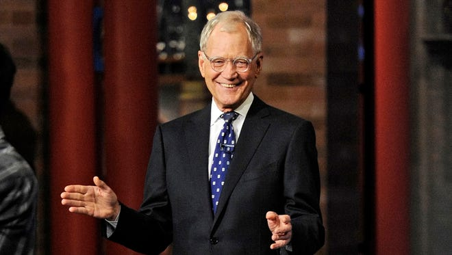 David Letterman appears during a taping of his final 'Late Show With David Letterman.'