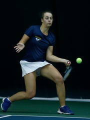 Victor's Emily Stanley won 6-0, 6-0 at first singles