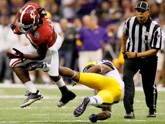 The last time Eddie Lacy, left, played in the Louisiana