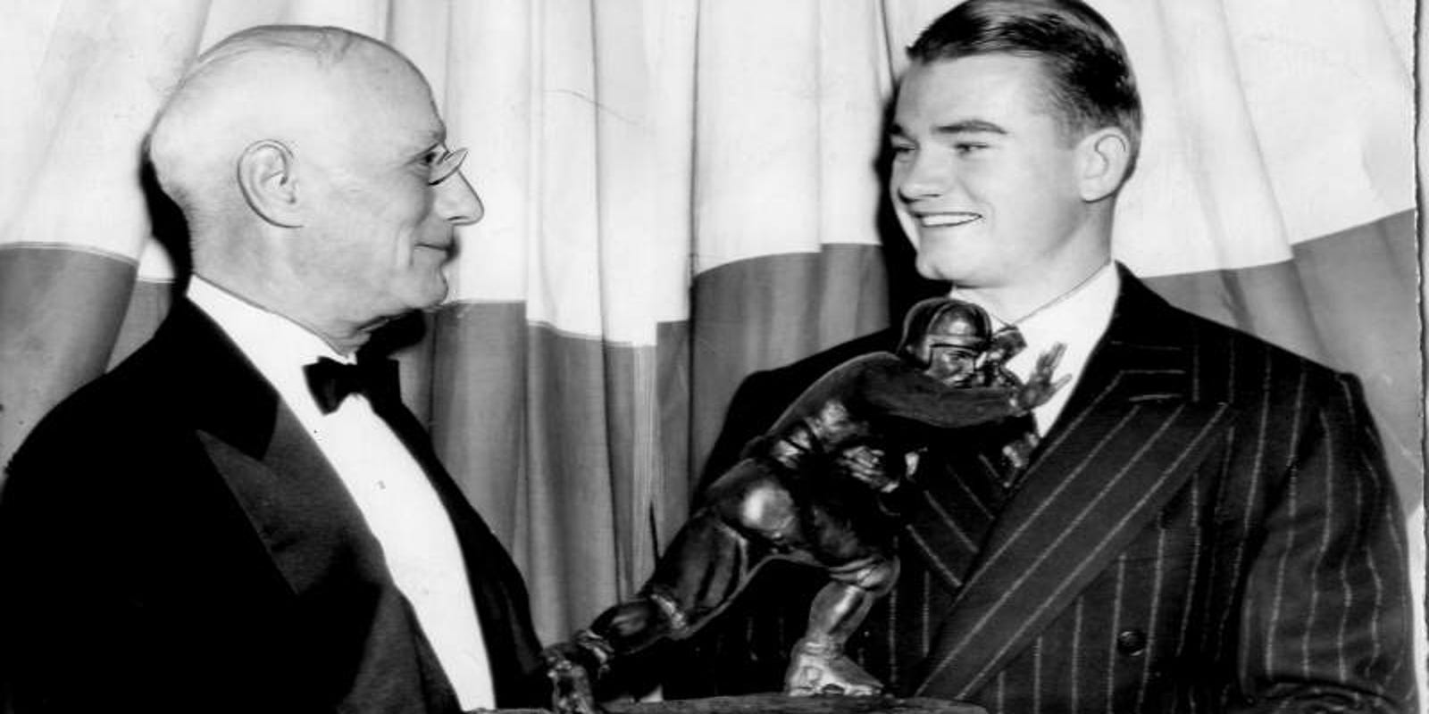 Listen: Nile Kinnick's legendary 1939 Heisman Trophy speech