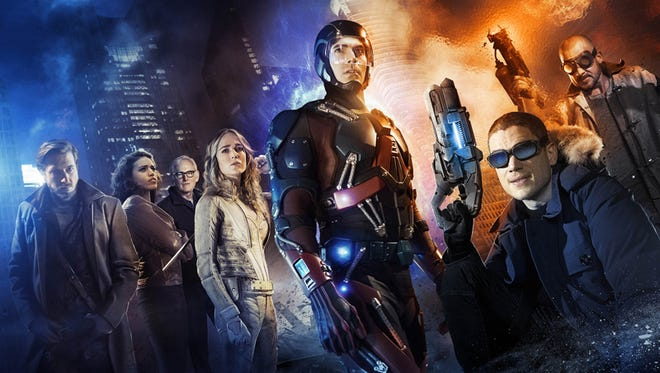 DC's Legends of Tomorrow -- Image LGD01_JN_0001 -- Pictured (L-R): Arthur Darvill as Rip Hunter, Ciara Renee as Kendra/Hawkgirl, Victor Garber as Professor Martin Stein, Caity Lotz as White Canary, Brandon Routh as Ray Palmer/Atom, Wentworth Miller as Leonard Snart/Captain Cold, and Dominic Purcell as Mick Rory/Heat Wave.