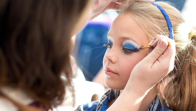 Face-painting will be one of the family activities at the Family Life Sharathon.