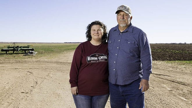 Hugh and Nancy Raney on their farm near Big Spring in January 2016. The couple had to stop farming part of their land when running the electric pumps to get well water to the fields became too expensive.