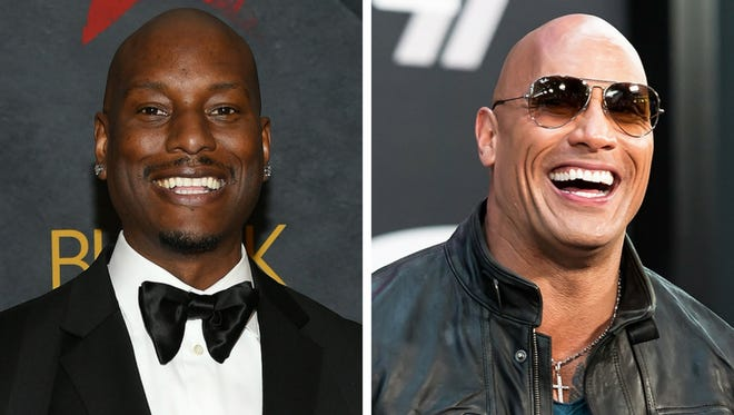 Tyrese Gibson and Dwayne 'The Rock' Johnson.