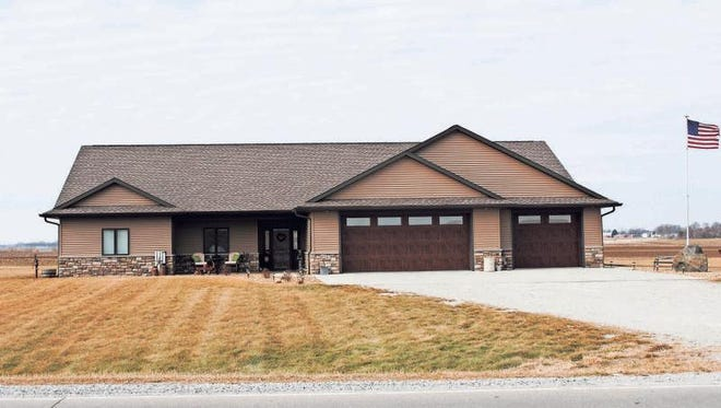 Troy and Brandy Enochson served as the general contractor for their home at 1543 M Ave., Marengo.
