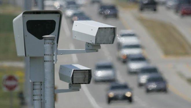 Traffic enforcement cameras seen in Des Moines.