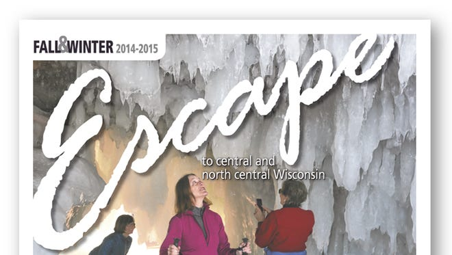 The cover of the fall and winter 2014-2015 edition of Escape to central and north central Wisconsin.