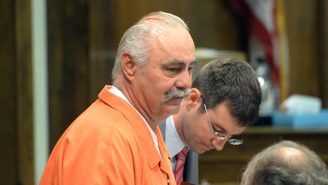 Keith Kutska enters Brown County Circuit Court during a two-day hearing in July 2015 reviewing his conviction in 1995 of involvement in the death of Tom Monfils at the former James River Mill.