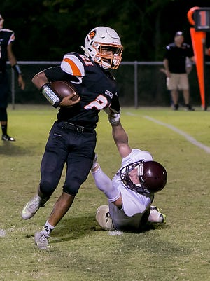 MTCS sophomore Kemari McGowan rushed for 888 yards last season.