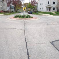 Traffic circles like this one on Milwaukee's east side are common in other communities and may become common in West Allis.