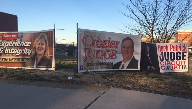 Circuit Court judge candidates spent a lot of money on advertising and signs ahead of Tuesday's Republican primary in Montgomery County.