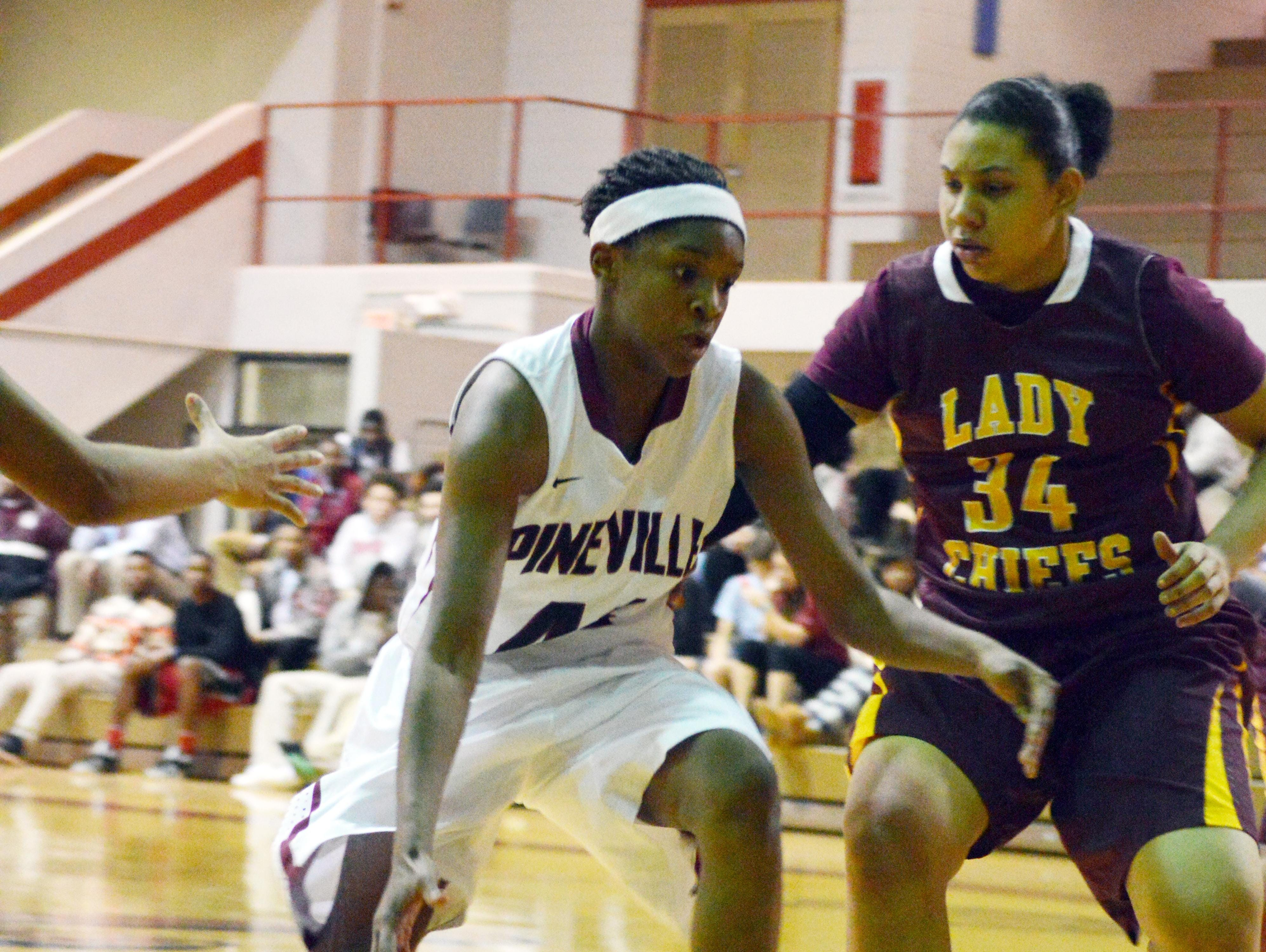 Pineville senior shooting guard Danyale Bayonne (42) has given an oral commitment to play college basketball at UL Lafayette. Bayonne averaged 14 points and six rebounds last season, earning Class 5A all-state honorable mention and making the All-Cenla first team for the second straight season.