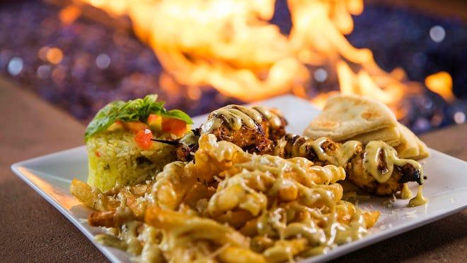 Chicken souvlaki from Opa Greek Life restaurant at Westgate in Glendale.