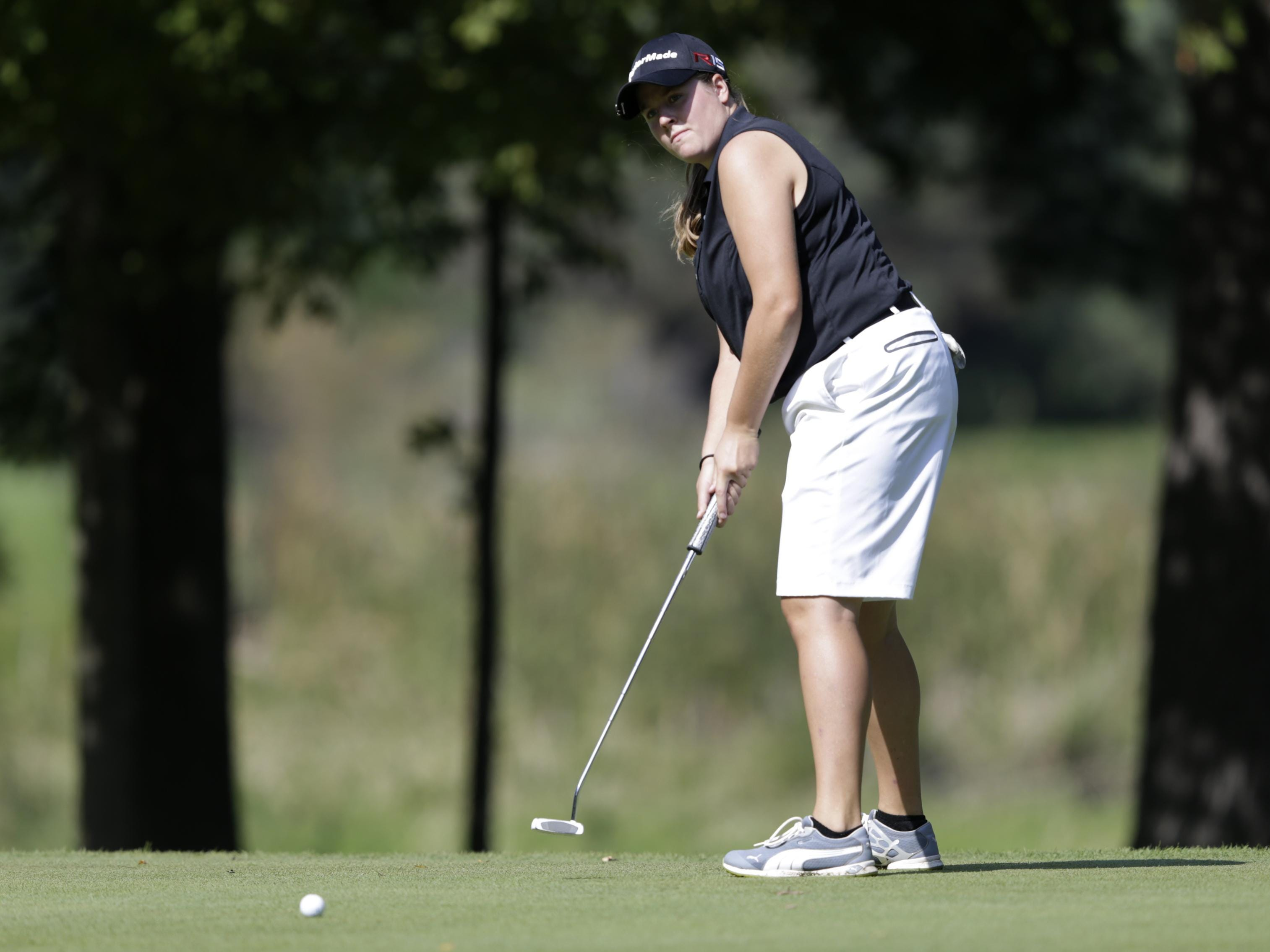Trystin Kluess of Fox Valley Lutheran was co-medalist at the North Eastern Conference golf meet at Wander Springs Golf Course in Greenleaf on Wednesday.