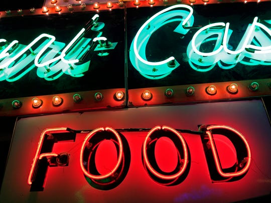 The History Museum at the Castle's newest exhibit features 30 vintage neon signs from the collection of Greenville's Jed Schleisner.   November 4, 2014 in Appleton, Wis.  Wm. Glasheen/Post-Crescent Media