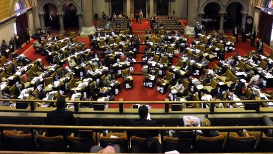 The New York State Assembly chamber