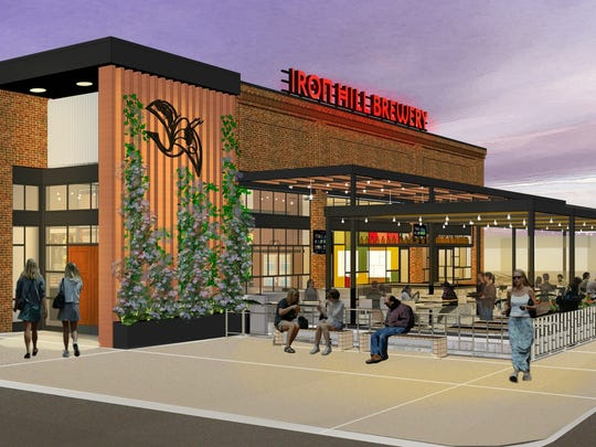 An artist rendering shows the new Iron Hill Brewery