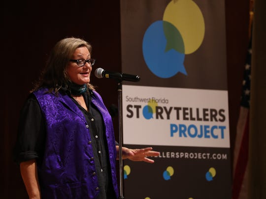 Award-winning journalists from The News-Press shared stories about some of their most memorable moments of their careers during the the inaugural Southwest Florida Storytellers Project at the Cape Coral Yacht Club Thursday evening October 12, 2017.