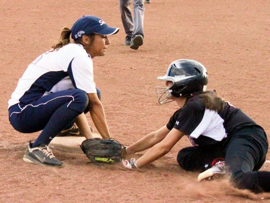 Danny Udero/Sun-News   Both Silver and Cobre got seeded opposite each other in the Class 4A state softball playoffs. The Lady Colts were No. 2, while the Lady Indians were No. 5.