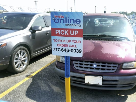 Weis Markets on Carlisle Street now has online shopping available, with two designated parking spots for customers to pickup their orders.