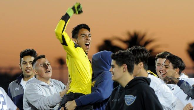Santa Clara goalie Gabriel Virgen was named the top player in CIF-SS Division 7.