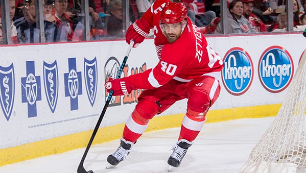 Henrik Zetterberg might be back for next Wednesday's game against the Rangers.