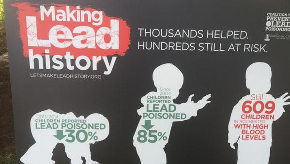 A poster produced by the Coalition to Prevent Lead Poisoning, based in Rochester.