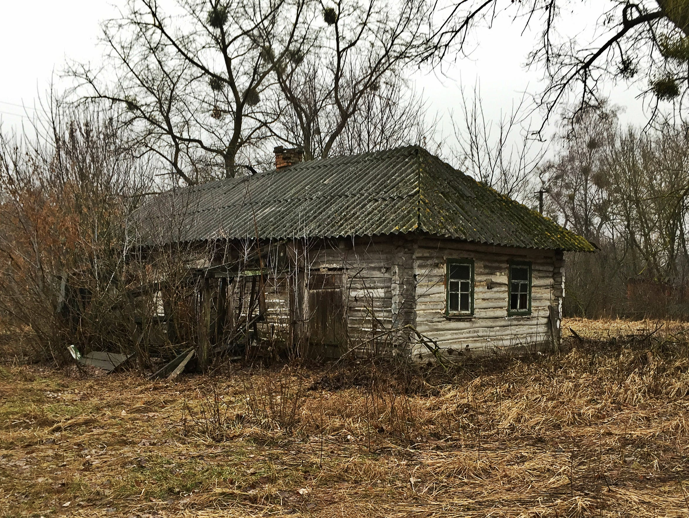 An abandoned house in the Exclusion Zone.