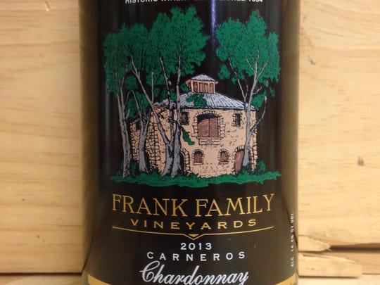2013 Frank Family Carneros chardonnay.