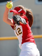 Carlie Williams of Palm Desert High School pitched