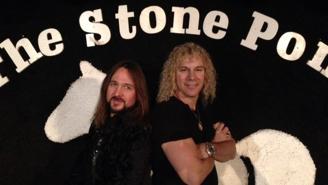 Matt O'Ree and David Bryan on stage at the Stone Pony in Asbury Park.