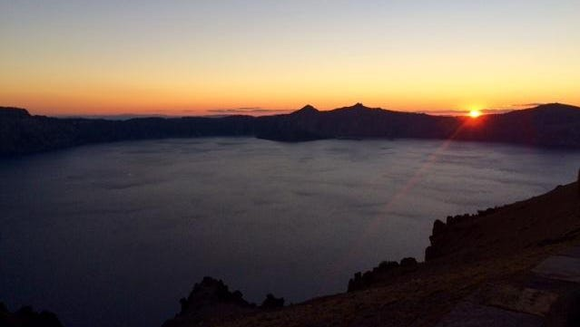 Crater Lake at Sunset on August 7.