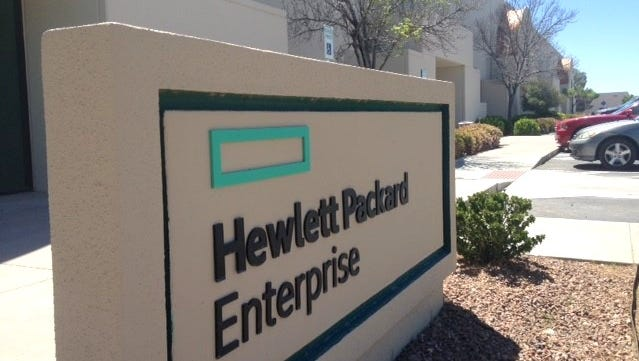 The Hewlett Packard Enterprise sign was still in place late last week at what is now the DXC Technology regional technology delivery center in the Northwest Corporate Center in far West El Paso. Two buildings are part of DXC's operations on Market Center Avenue.