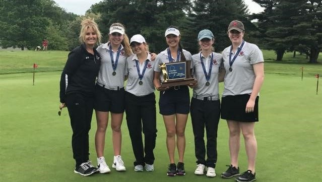The Hunterdon Central girls golf team won the Tournament of Champions title on Tuesday, May 23, 2017.