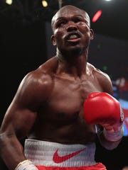 The area beneath Timothy Bradley's left eye swells up in the 10th round during his fight against Diego Chaves on Saturday at The Cosmopolitan of Las Vegas. The fight ended in a draw.