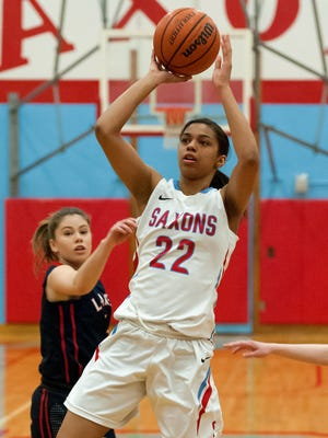 South Salem guard Evina Westbrook shoots in the lane March 4 against Lake Oswego during the first round of the OSAA Class 6A state playoffs.