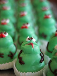 Frog cupcakes at Sweeney's Bakery are a signature creation