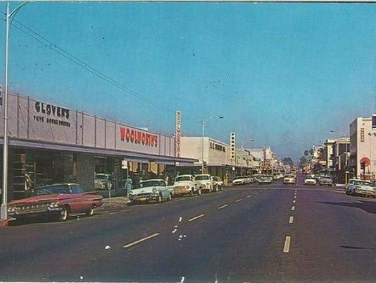 downtown redding postcard