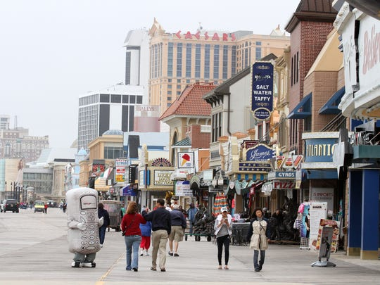 The Atlantic City boardwalk.