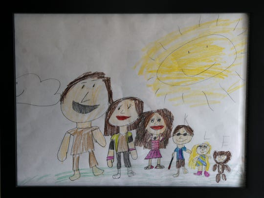 A family portrait made by Maile Apongan,10.