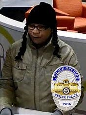 Keizer Police Department is looking for this person who robbed the MAPS Credit Union located at 111 McNary Estates Drive North on Wednesday, Feb. 15, 2017 at 4:43 p.m.