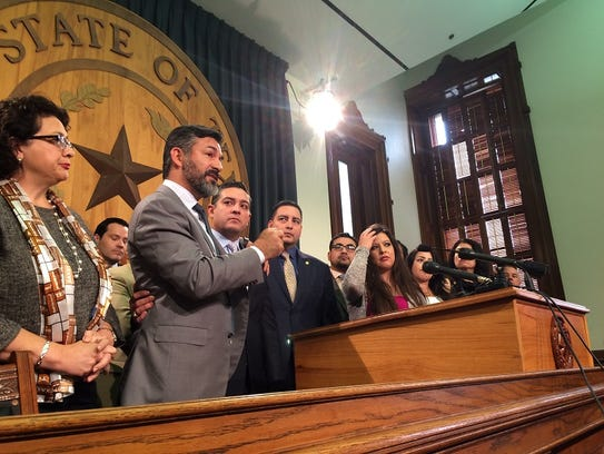 Democratic state Reps. Ramon Romero of Fort Worth and