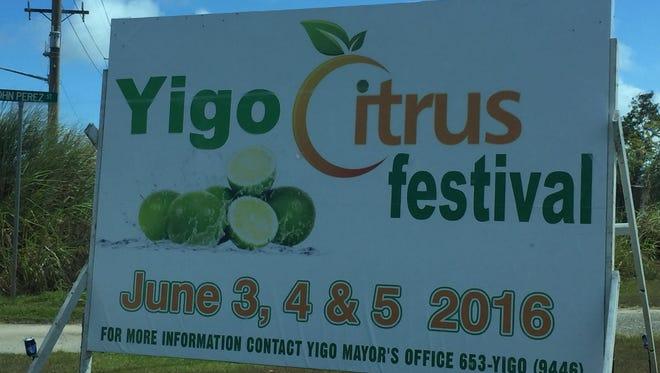The Yigo Citrus Festival will be held in June.