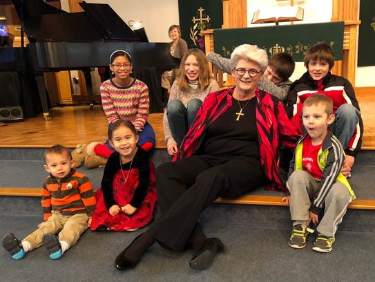 The Rev. Carly Kuntz enjoys sharing Bible stories with