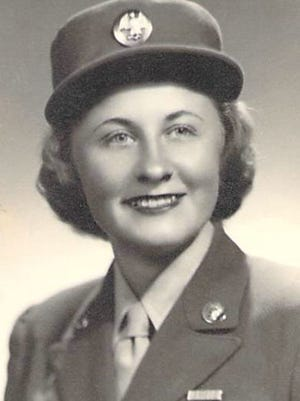 Esther Sara Silverman, shown in her uniform while serving in the Army during World War II.