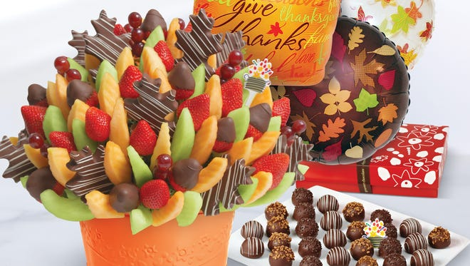 Edible Arrangements has an array of holiday gifts. There are several locations around the area.