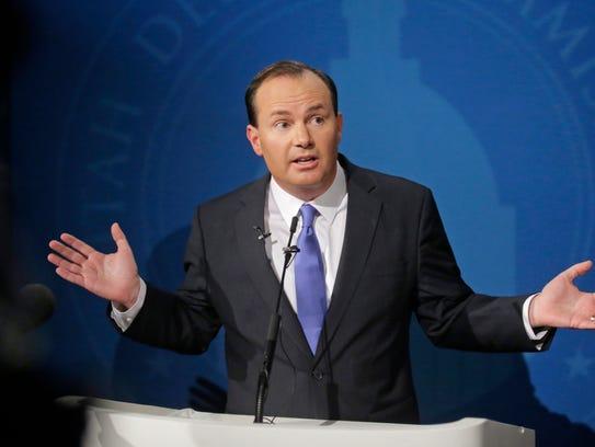 Republican Sen. Mike Lee of Utah