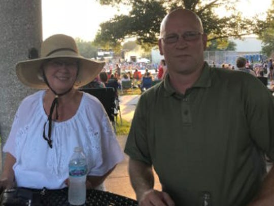 Mindy Allen and Denton Williams at the Coralville July